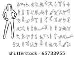 set of abstract vector people...