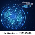 abstract technology concept... | Shutterstock .eps vector #657339898