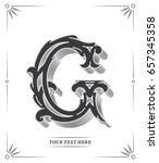 elegant vector black g letter... | Shutterstock .eps vector #657345358