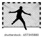 handball  soccer  goalkeeper... | Shutterstock .eps vector #657345880