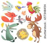 cartoon forest animals set.... | Shutterstock .eps vector #657348454