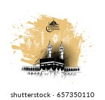 holy kaaba in mecca saudi... | Shutterstock .eps vector #657350110