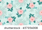 seamless pattern in small cute... | Shutterstock .eps vector #657356008