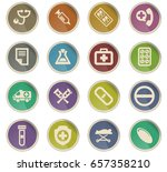 medical vector icons for user... | Shutterstock .eps vector #657358210