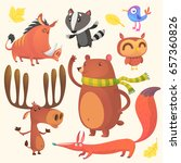 collection of cartoon forest... | Shutterstock .eps vector #657360826