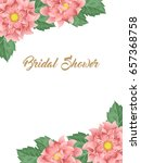 bridal shower or wedding... | Shutterstock . vector #657368758