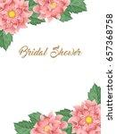 bridal shower or wedding... | Shutterstock . vector #657368758