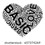 basic love words with heart... | Shutterstock .eps vector #657374269