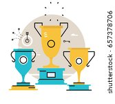 champion of competition  reward ... | Shutterstock .eps vector #657378706