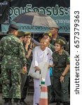 Small photo of BANGKOK, THAILAND - 11June : Many people In the reign of King Rama IX, Although the weather is hot. But everyone is indomitable. With a sense of his goodness, on the 11 June, 2017 in BANGKOK, THAILAND