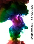 acrylic colors and ink in water.... | Shutterstock . vector #657390529