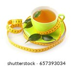 weight loss concept. cup of tea ... | Shutterstock . vector #657393034