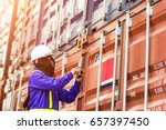foreman control loading... | Shutterstock . vector #657397450