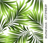 seamless pattern. leaves of a... | Shutterstock .eps vector #657398839