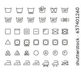 garment care symbols  thin... | Shutterstock .eps vector #657401260