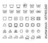 garment care symbols  thin... | Shutterstock .eps vector #657401260