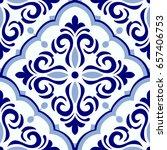 vintage seamless pattern in... | Shutterstock .eps vector #657406753