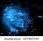 3d render of a technology... | Shutterstock . vector #657407194