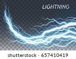lightning and thunder bolt or... | Shutterstock .eps vector #657410419