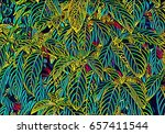 tropical foliage plant digital... | Shutterstock . vector #657411544