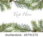 pine branch christmas frame... | Shutterstock . vector #65741173