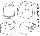 vector set of tissue paper | Shutterstock .eps vector #657422098