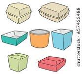 vector set of paper food... | Shutterstock .eps vector #657422488