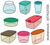 vector set of plastic container | Shutterstock .eps vector #657422530