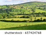 the irish countryside and... | Shutterstock . vector #657424768