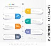 timeline infographics design... | Shutterstock .eps vector #657431059