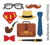 father's day icon set isolated... | Shutterstock .eps vector #657433216