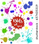 Paint Blobs  Colorful Ink And...