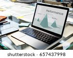 business performance graph on... | Shutterstock . vector #657437998