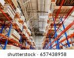 warehouse storage of retail... | Shutterstock . vector #657438958