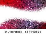 light pink  red vector low poly ... | Shutterstock .eps vector #657440596