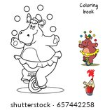 funny hippo in a skirt on a... | Shutterstock .eps vector #657442258