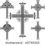 set of crosses. vector...   Shutterstock .eps vector #65744242