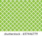 green quatrefoil background | Shutterstock .eps vector #657446779
