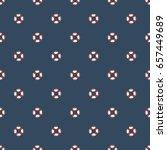 nautical seamless pattern. | Shutterstock .eps vector #657449689