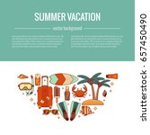 summer vacation beach icon... | Shutterstock .eps vector #657450490