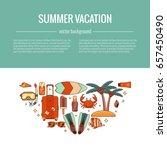 summer vacation beach icon... | Shutterstock .eps vector #657450490