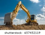 Excavator Blue Sky Heavy...