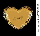 gold heart on a black background | Shutterstock .eps vector #657458218