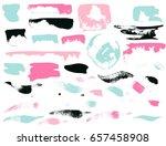 vector brush stroke. grunge ink ... | Shutterstock .eps vector #657458908