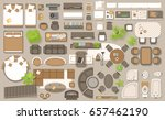 icons set of interior  top view.... | Shutterstock .eps vector #657462190