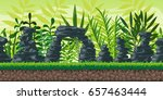 seamless cartoon nature... | Shutterstock .eps vector #657463444
