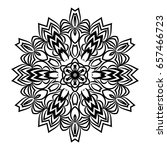 hand drawn henna ethnic mandala....   Shutterstock .eps vector #657466723