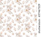 floral seamless pattern with... | Shutterstock . vector #657467329