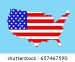usa map vector illustration | Shutterstock .eps vector #657467590