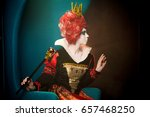 Small photo of Proud profile of the queen queen from the Wonderland